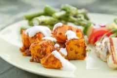Kurdish speciality - spicy potato salad Stock Image
