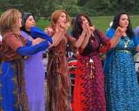 Kurdistan Dancers. At Edmonton Alberta Heritage Day Celebration August 4. 2014 Royalty Free Stock Photo