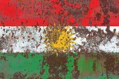 Kurdistan grunge flag, Iraq dependent territory flag.  Royalty Free Stock Image
