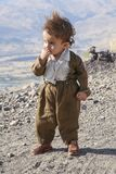 Kurdistan, October 14, 2007: Unidentified little boy in a mountainous region of Kurdistan. Stock Photo