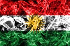 Kurdistan smoke flag, Iraq dependent territory flag.  Stock Photography