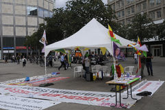 KURDS PROTEST AGAINST TURKISH GRNERMENT Stock Images