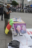 KURDS PROTEST AGAINST TURKISH GRNERMENT Royalty Free Stock Photos