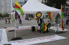KURDS PROTEST AGAINST TURKISH GRNERMENT Royalty Free Stock Images