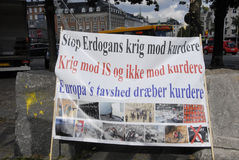 KURDS STAGED PROTES RALLY AAINST TURKISH PRESIDENT Stock Photos