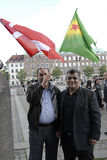 KURDS STAGED PROTES RALLY AAINST TURKISH PRESIDENT Royalty Free Stock Image