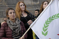 KURDS STAGED PROTES RALLY AAINST TURKISH PRESIDENT Royalty Free Stock Images