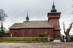 Kurdwanow村庄,教会 库存照片
