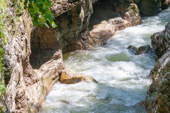 Kurdzhips River is in Guamskoe Gorge Royalty Free Stock Image