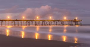 Kure Beach Fishing Pier stock photography