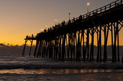 Kure Beach Pier royalty free stock images