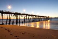 kure plażowy molo zdjęcie royalty free