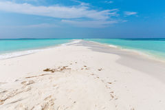 Kuredu Island from the Sandbar. Royalty Free Stock Images