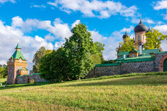 Kuremae Dormition女修道院 爱沙尼亚,欧盟 库存照片