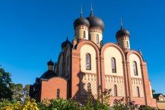 Kuremae Dormition女修道院 爱沙尼亚 免版税库存图片