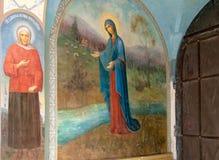 Kuremae L'Estonia Icone del convento di Puhtitsa Dormition Fotografia Stock