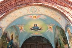 Kuremae L'Estonia Icone del convento di Puhtitsa Dormition Fotografie Stock