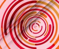 Kurend linie, okręgi, geometryczny abstrakcjonistyczny tło ilustracja wektor