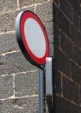 Kurenda żadny hasłowy europejczyka znak zaznacza jeden sposobu ulicę fotografia royalty free