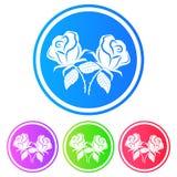 Kurenda, gradientowa biel róży sylwetki ikona Odizolowywający na bielu ilustracja wektor