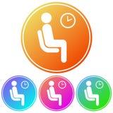Kurenda, gradientowa poczekalni ikona Cztery kolor różnicy ilustracja wektor