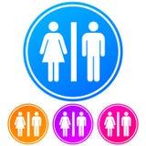Kurenda, gradientowy kolor łazienki WC znak Biała sylwetka ilustracja wektor