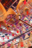 Kurenda kadzi w Chińskiej świątyni obrazy stock