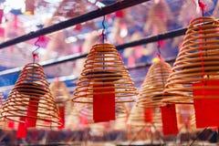 Kurenda kadzi w Chińskiej świątyni zdjęcie royalty free