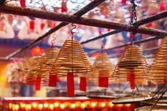 Kurenda kadzi w Chińskiej świątyni zdjęcia royalty free