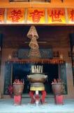 Kurenda kadzi w Chińskiej świątyni fotografia stock