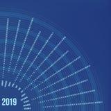 Kurenda kalendarz 2019 rok Minimalny daktylowy plakat ilustracja wektor