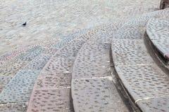 Kurenda kamienny schody zdjęcia royalty free