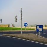 Kurenda kwadrat w mgle zdjęcia royalty free