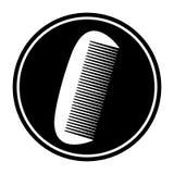 Kurenda, mała, biel sylwetki grzebieniowa ikona Odizolowywający na bielu royalty ilustracja