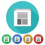 Kurenda, mieszkanie strony internetowej popielata ikona na barwionym tle Pięć różnic royalty ilustracja