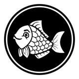 Kurenda, płaski kreskówki ryba ikony projekt Monochromatyczny projekt ilustracja wektor