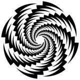 Kurenda, płodozmienna spirala, vortex element, motyw Abstrakcjonistyczny geome ilustracja wektor