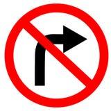 Kurenda pojedynczy biel czerwony i czerni żadny zwrota dobra symbol ilustracji
