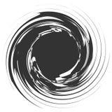 Kurenda, promieniowy abstrakcjonistyczny element na bielu Promieniować kształt z royalty ilustracja