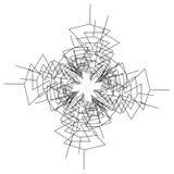 Kurenda, promieniowy abstrakcjonistyczny element na bielu Promieniować kształt z ilustracji