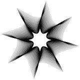 Kurenda, promieniuje abstrakcjonistycznego kształt, motyw Geometrycznego projekta elem ilustracji