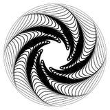 Kurenda, promieniuje abstrakcjonistycznego kształt, motyw Geometrycznego projekta elem royalty ilustracja