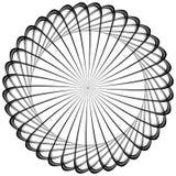 Kurenda, promieniuje abstrakcjonistycznego kształt, motyw geometryczny wzór ilustracji