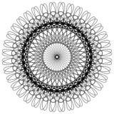 Kurenda, promieniuje abstrakcjonistycznego kształt, motyw geometryczny wzór royalty ilustracja
