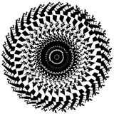 Kurenda, promieniuje abstrakcjonistycznego kształt, motyw geometryczny wzór ilustracja wektor