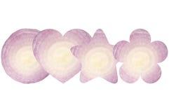 Kurenda, serce, gwiazda i kwiat, kształtowaliśmy cebuli fotografia stock