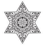 Kurenda wzór Islamski etniczny ornament dla garncarstwa, płytki, tkaniny, tatuaże Obrazy Stock