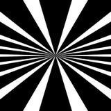 Kurenda wzór promieniowy, promieniuje linie monochrom ilustracja wektor