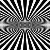 Kurenda wzór promieniowy, promieniuje linie monochrom ilustracji