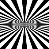 Kurenda wzór promieniowy, promieniuje linie monochrom royalty ilustracja